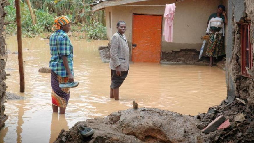 A village in Kigali devastated by floods in 2011. (File)