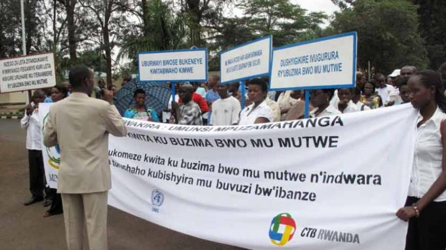 A mental health campaign in 2010 in Kigali. (File)