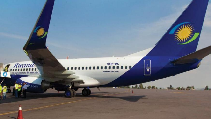One of the new planes RwandAir acquired in the 12 months. The airline wants to buy two Boeing 787 Dreamliner by 2017 to further strengthen its fleet. (John Mbanda)