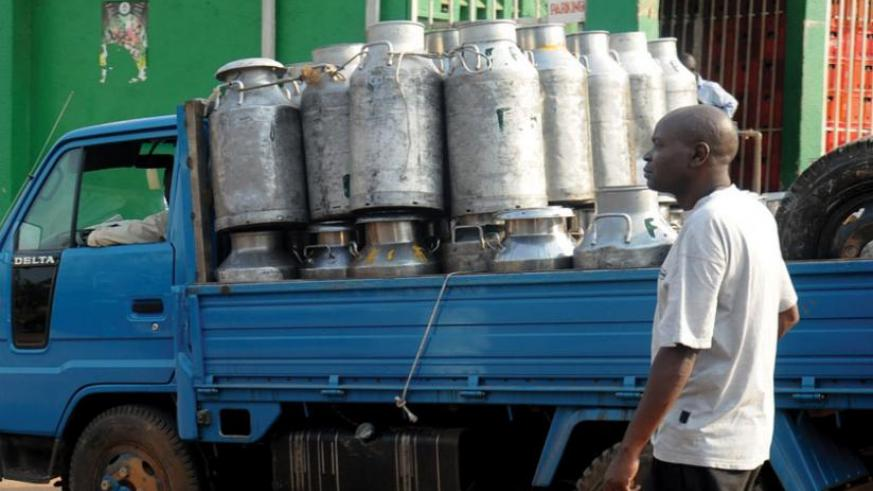 A dealer prepares to transport milk. Standards body encourages small businesses to ensure quality.