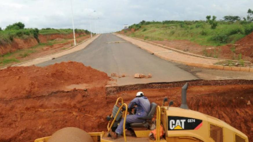 A road under construction in Gasabo District in 2010. (File)