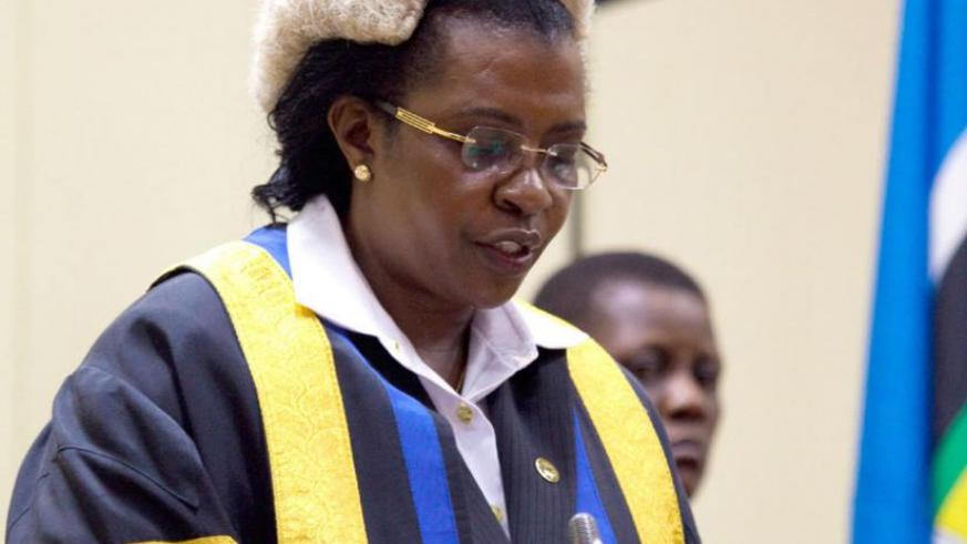Speaker Margaret Zziwa presides over a session of Eala in Kigali last year. Some members are not happy with her leadership. (File)