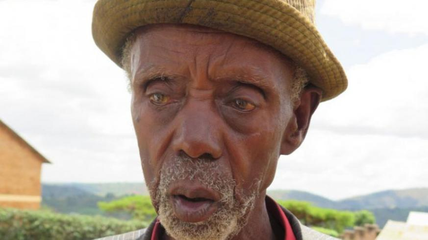Eight-two year old Tharcisse Nyirinkindi, a resident of Mukura Sector, Huye District, lost all his family in the 1994 Genocide against the Tutsi, but says neighbours have become his new family. (File)