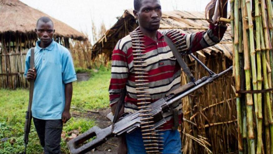 FDLR militia in DR Congo. The leaders of the terrorist outfit have refused to lay down arms creating the possibility of military action against the group. (Net photo)