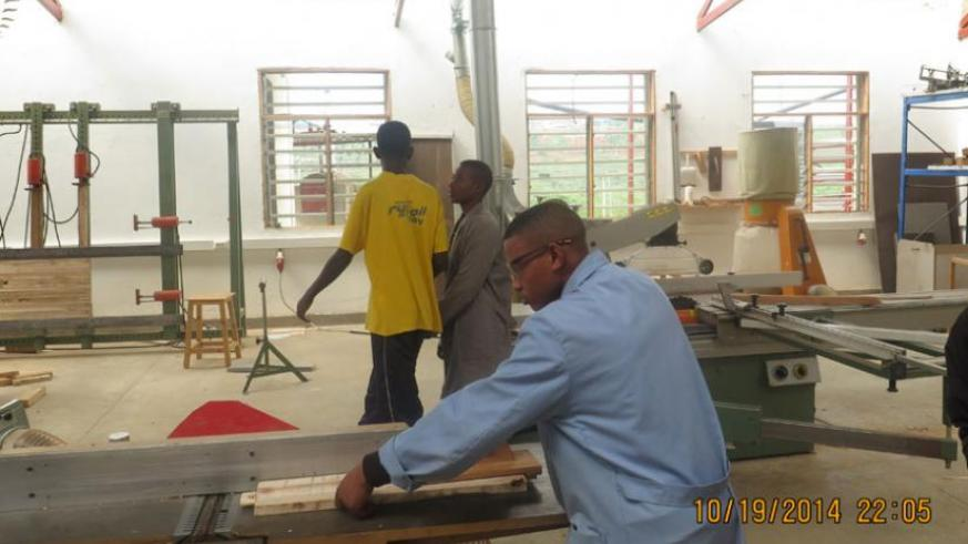 A  student  of Ihumure during  a practical session recently. (Arnold Agaba)