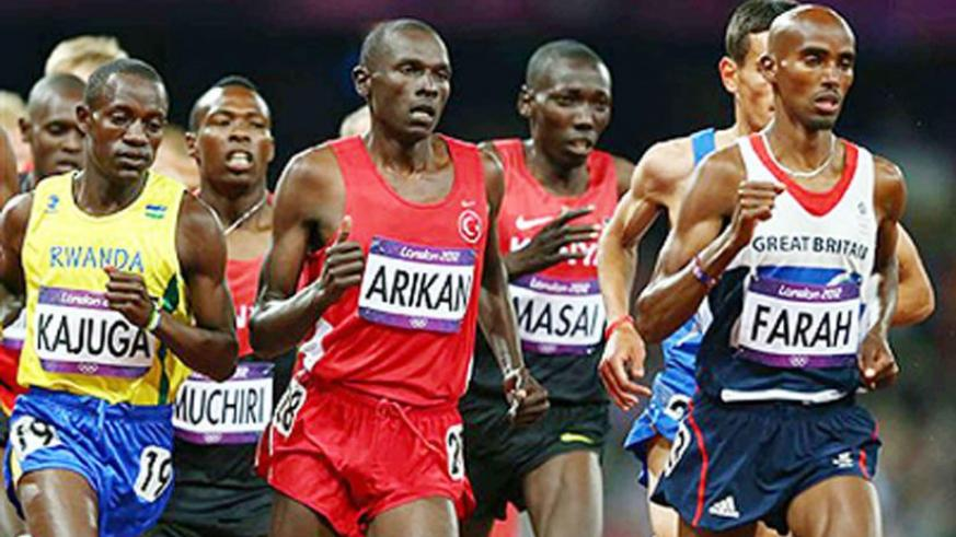 Kajuga competes in the 10,000m final at the 2012 London Olympic Games, which was won by Britain's Mo Farah. File.
