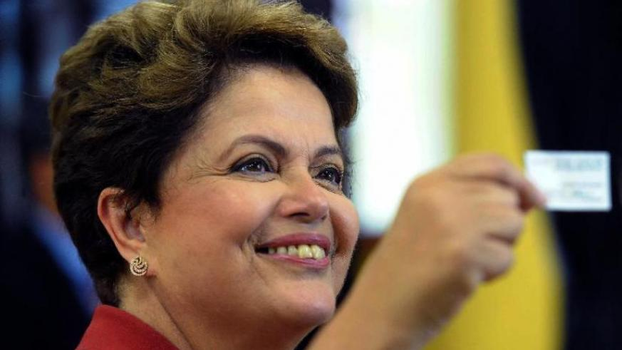 Brazil's President Dilma Rousseff was reelected to a second term (Xinhua)