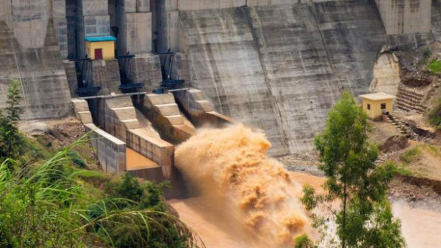 Turbines of Nyabarongo hydropower plant now working due to the increase of the water level. The plant has a capacity of 28 MW. (Timothy Kisambira)