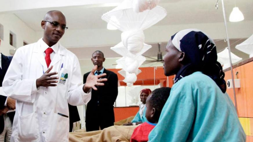 A doctor talks to a patient at Butaro Hospital in 2012. (File)