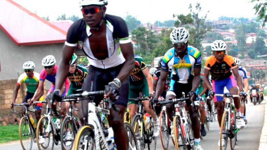 Team Rwanda riders compete in the last stage of last year's Tour du Rwanda. 