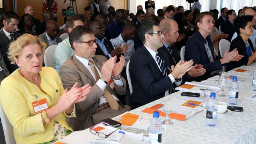 A cross section of the Dutch delegation members at the meeting in Kigali yesterday. (John Mbanda)