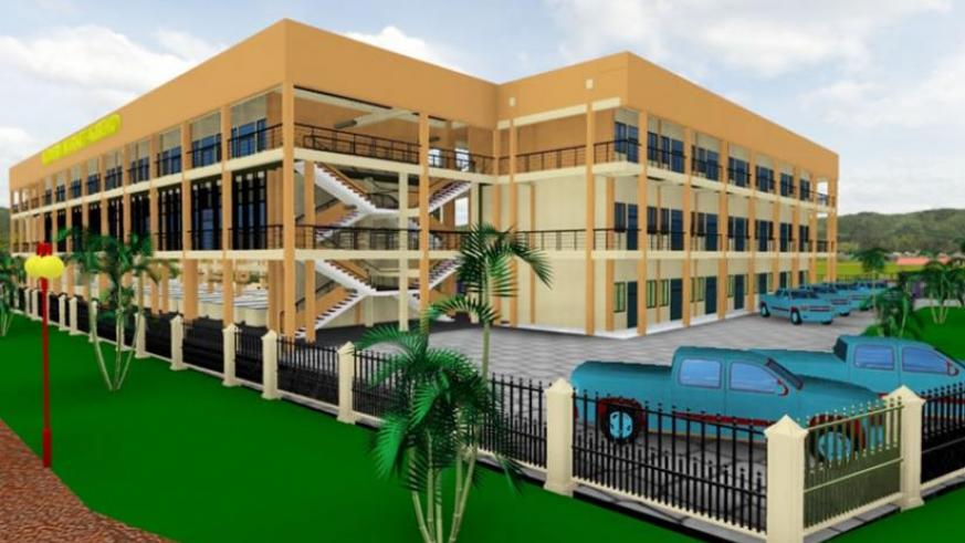 An artistic impression showing the Right and Front view of the structure to be constructed in Kibeho.  (Courtesy)