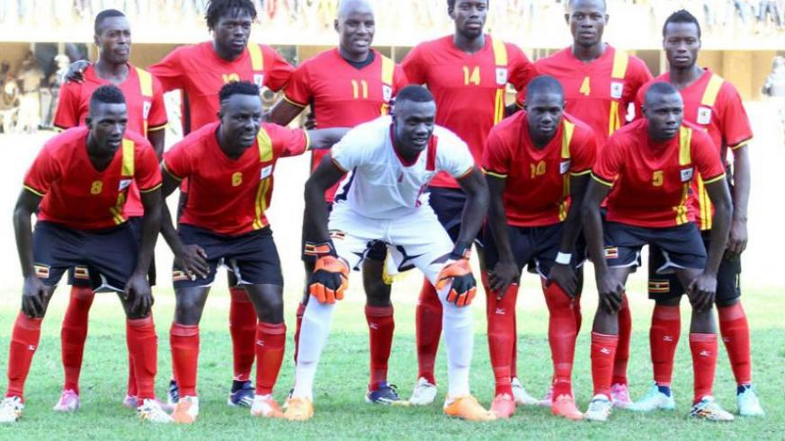 Uganda's Cranes pose for a group photo before a past Afcon qualifier.