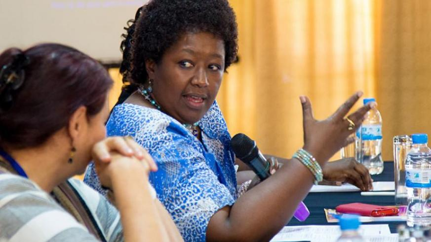 Dr Binagwaho speaks at the opening of the Kangroo Mother Care conference in Kigali yesterday. (Timothy Kisambira)