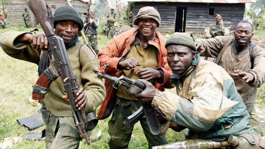 FDLR fighters in DRC. The militia, according to the new report, continues to regroup in total disregard of the deadline for its surrender. (Net photo)