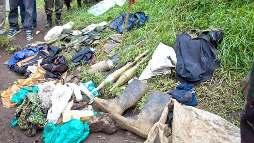 Some property abandoned by FDLR  last year in Rubavu. The militia is regrouping. (File)