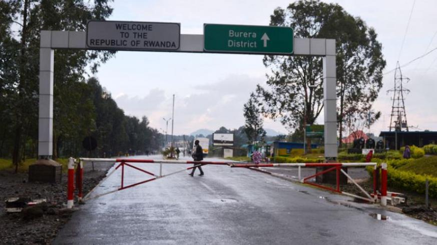 Cyanika border post between Rwanda and Uganda. The government has  committed to constructing a cross border market there to ease business. (Jean d'Amour Mbonyinshuti)