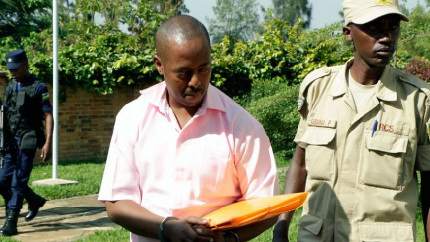 Kizito arrives at the High Court in Kigali on September 14. (File)