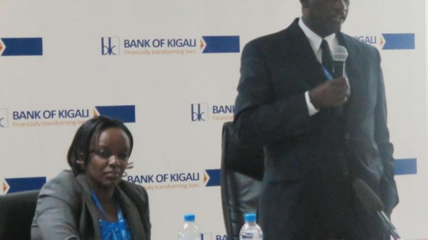 Gatera announces the bank's third quarter financial results on Thursday. The bank's assets were by 23.5%. (Solomon Asaba)