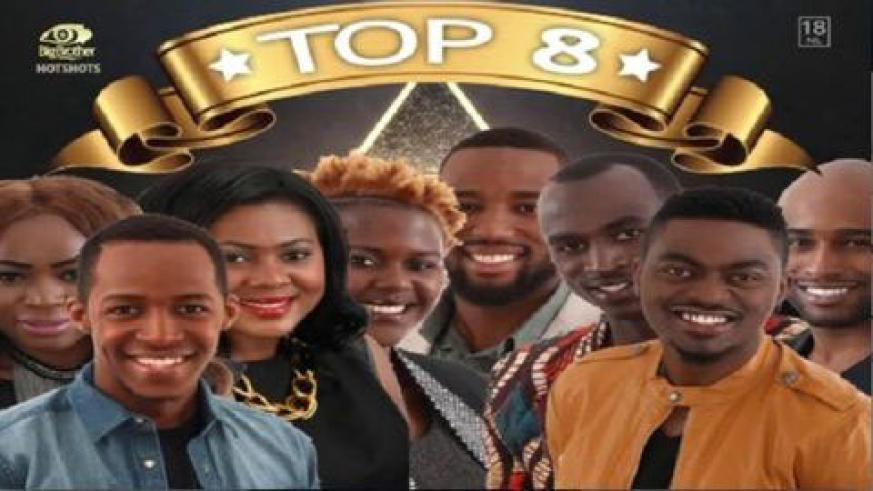 L-R: Sipe, Idris, M'am Bea, Butterphly, Nhlankla, Macky2, Tayo and JJ have reached the final week of Big Brother Africa reality show. (Courtesy)