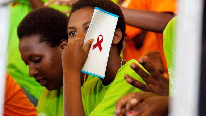 Youth at a World Aids Day event in Kigali last year. Stakeholders in HIV/Aids fight intend to use this year's Day to interest the media in boosting awareness efforts. (Timothy Kisambira)