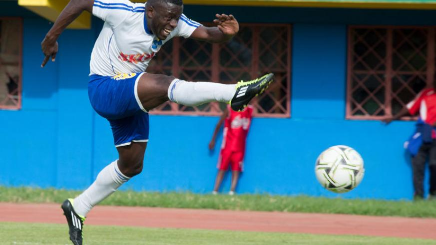In-form striker Isaac Muganza has found the net in each of the last two matches for Rayon Sports. (T. Kisambira)