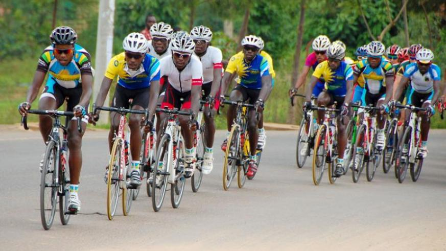Team Rwanda riders in the Tour du Rwanda which they dominated last month. The team has returned to training ahead of the 2015 season. (File)