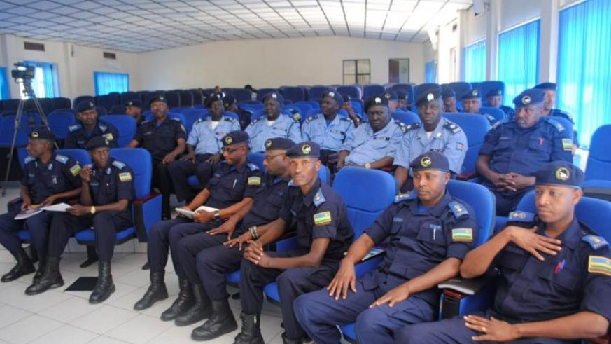 A cross section of some of the police officers who were passed out yesterday. (Courtesy)