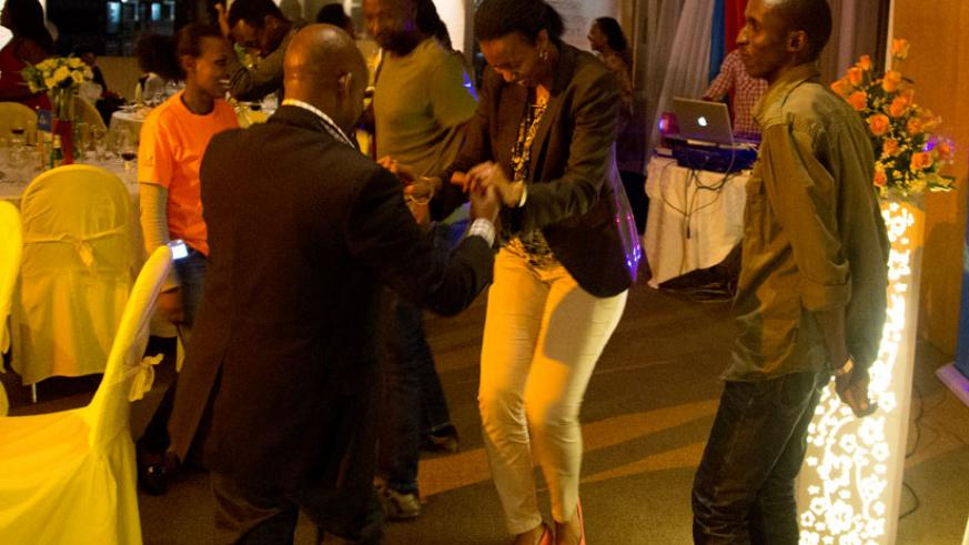 Guests and KLM staff took to the dance floor and pulled off their dance strokes. (Timothy Kisambira)