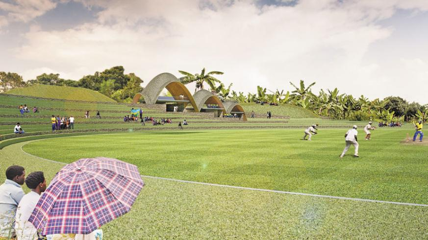 An artistic design of how the cricket stadium will look like. (Courtesy)