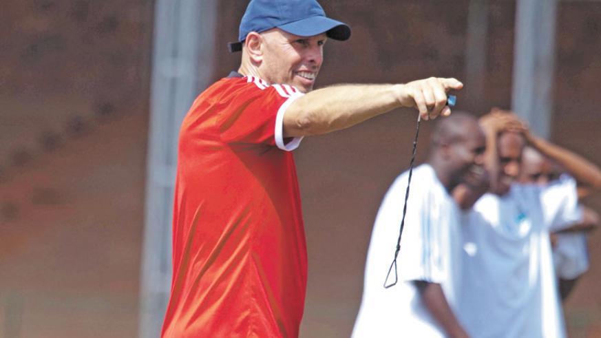 Constantine gives instructions during a past Amavubi training session. (File)