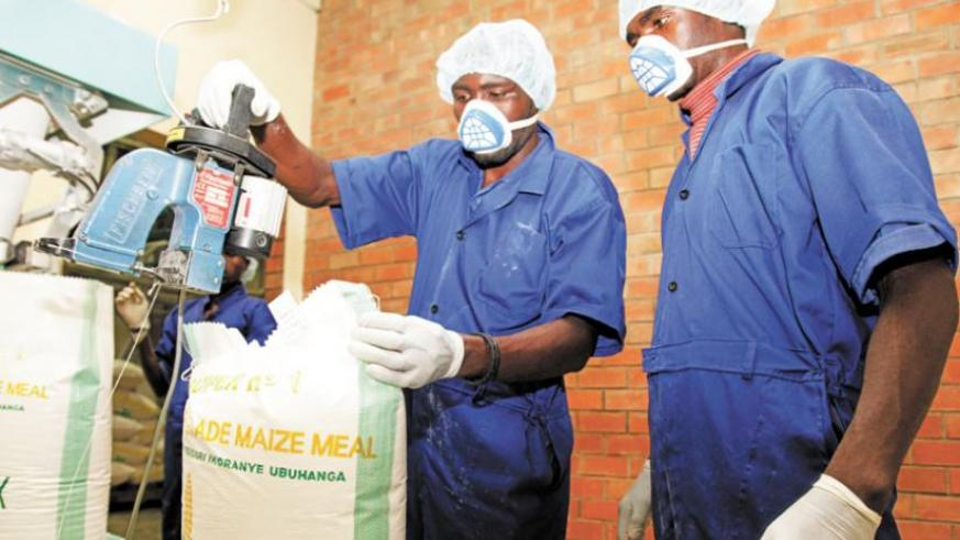 Workers at minimex, a local maize milling factory. (File)