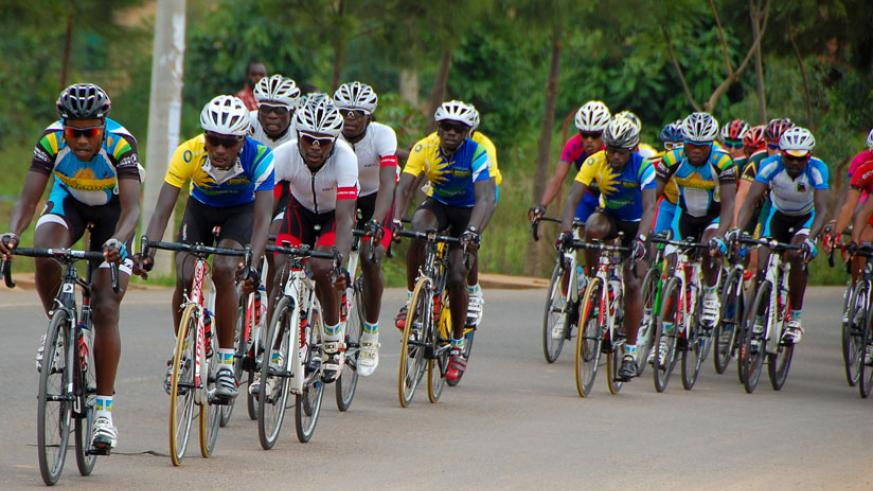Team Rwanda riders during the Tour du Rwanda last month. The cyclists begin the 2015 season with the Tour of Egypt. (File)