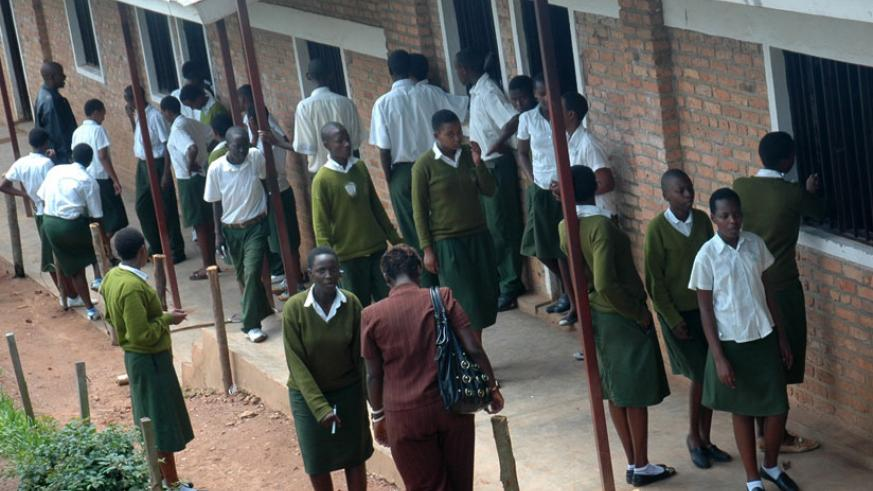 A secondary school in Kigali. School heads have expressed the need for teachers in charge of discipline. (File)