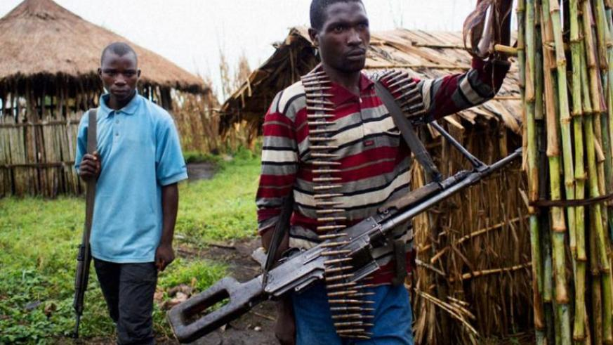 Members of the FDLR militia in the Democratic Republic of Congo jungles. (Internet photo)
