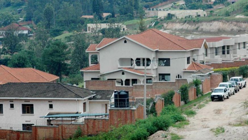 A residential area in Kimihurura. Renting or buying a house in Kigali remains a dream to many city dwellers. (File)