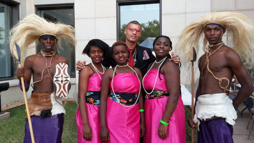 U5 traditional dancers at a performance at the American Embassy. (Moses Opobo)