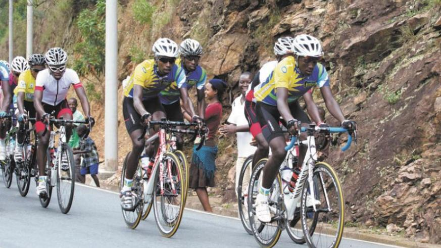Team Rwanda cyclists during the Tour du Rwanda. The team wants to win the yellow jersey in the Tour of Egypt. (File)