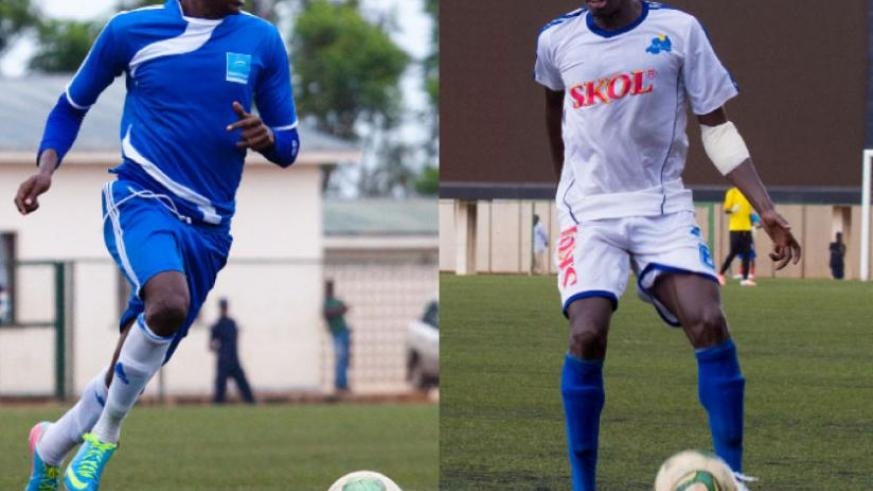 they Want out: Rayon Sports right back Karim Nizigiyimana, populary known as Makenzie (L), and defender Abouba Sibomana (R) are some of the players looking to leave the club. (Timothy Kisambira)