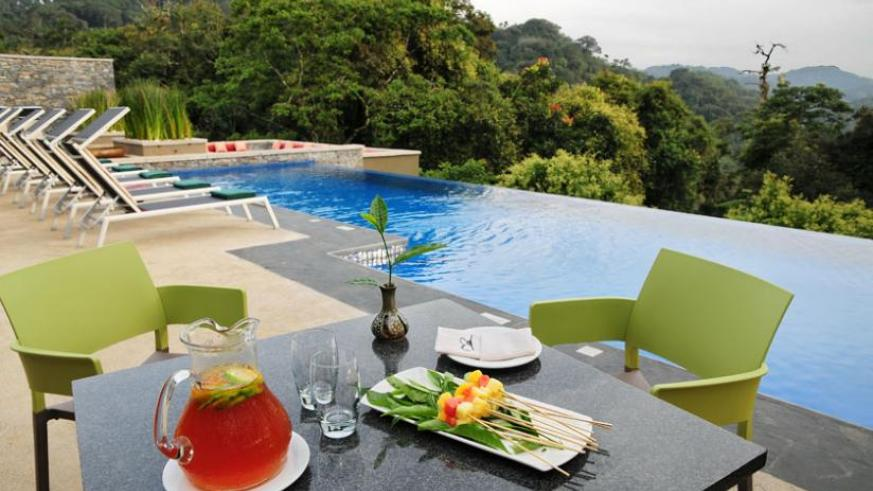 Poolside of Nyungwe Forest Lodge (File)