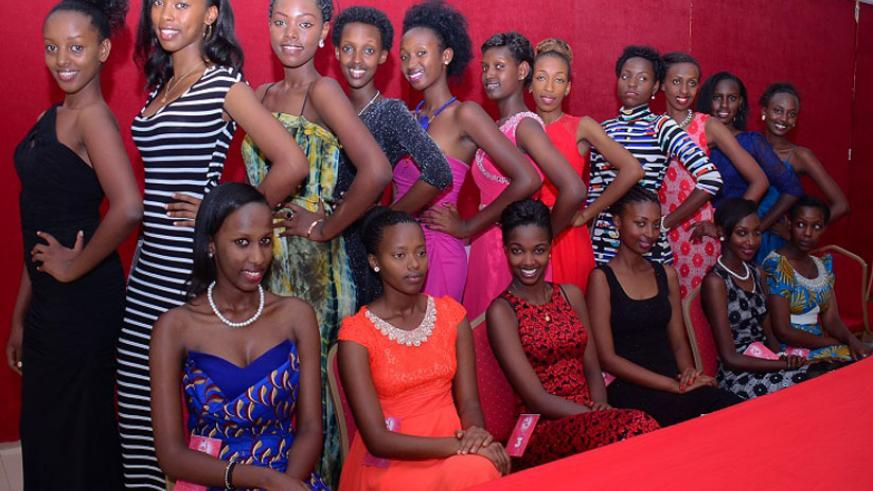 The 17 girls who took part in the Miss 2015 audition in the Eastern Province.