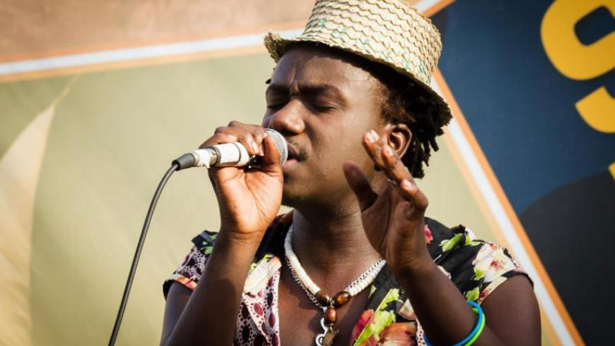 Mani Martin performs at a previous event in Kigali. (File)
