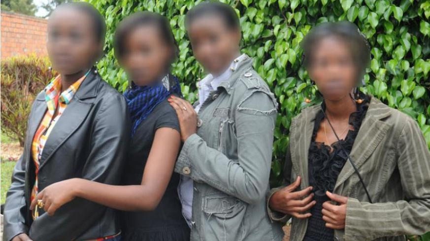 Victims of human trafficking, who were rescued in 2012. (File)