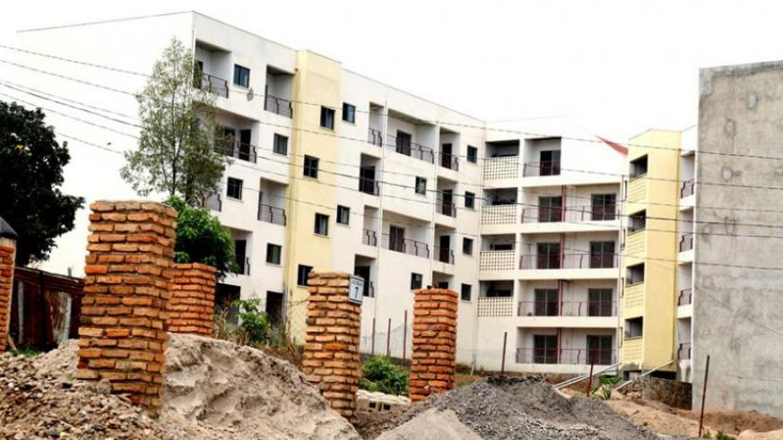 Construction of Ujenge apartments in Kagugu, Gasabo District, has stalled, leaving homeowners frustrated. (John Banda)