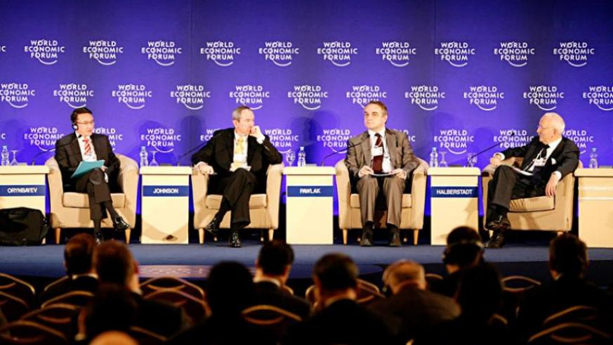 A panel discussion at a past Davos Summit. (Net)