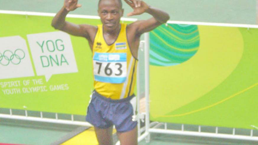 James Sugira during last year's Youth Olympic Games in Nanjing, China.( File)