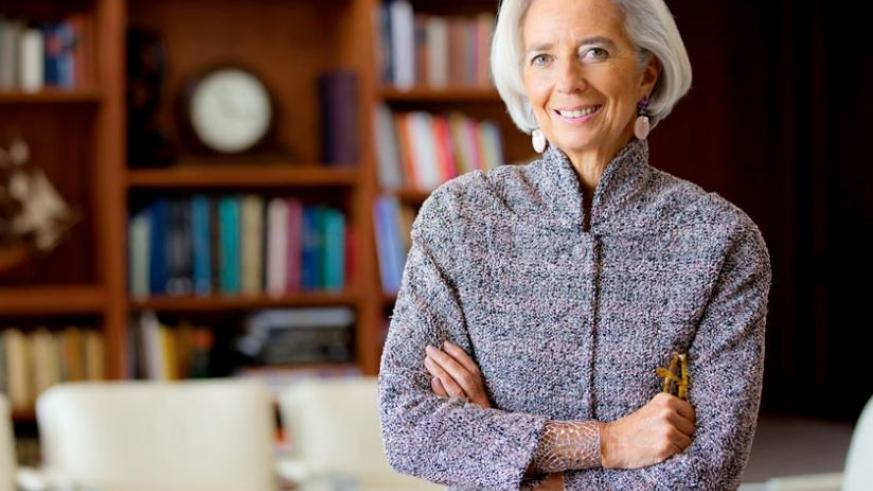 IMF chief Lagarde starts a three-day official visit to Kigali today. (Net photo)