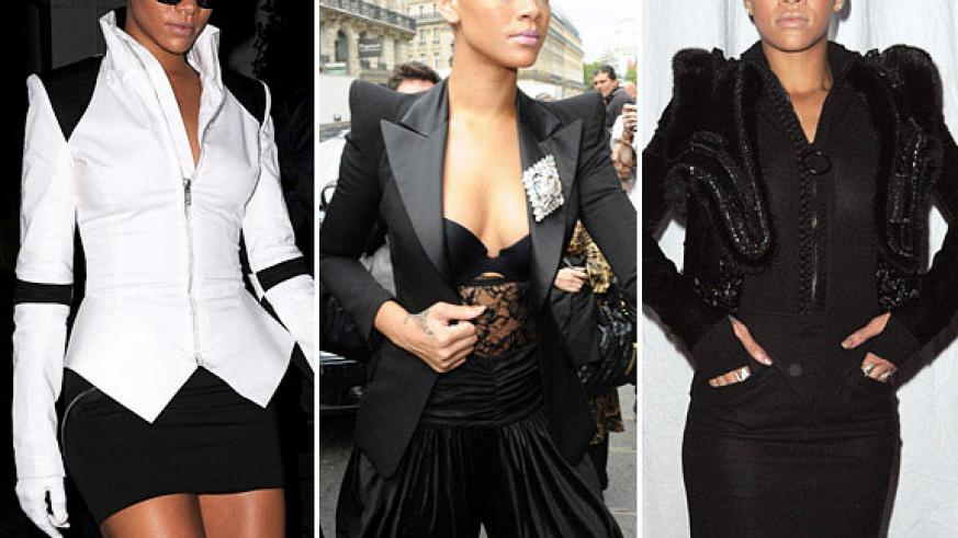 Shoulder pads can look glamourous if worn with the right accessorie. (Net photos)