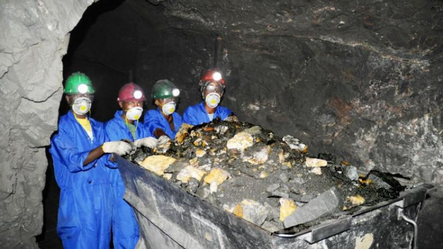 Wolfram miners in the Northern Province at work recently. (File)
