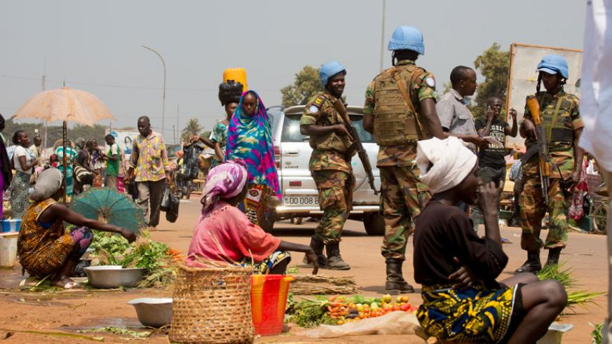 In the market such as this one in Bangui, Muslims and Christians trade freely. (Timothy Kisambira)